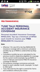 Perlindungan PA Etiqa Takaful RM50K