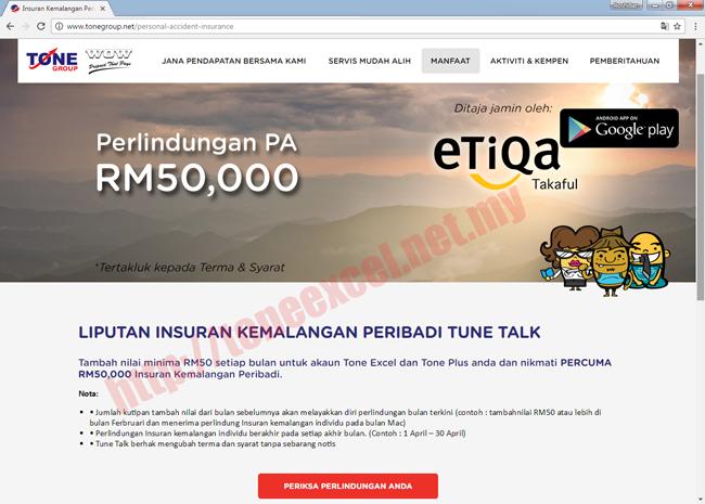 Polisi Pelindungan Kemalangan Peribadi Etiqa Takaful RM50K