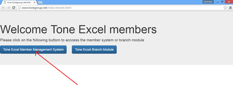 Click Tone Excel Member Management System